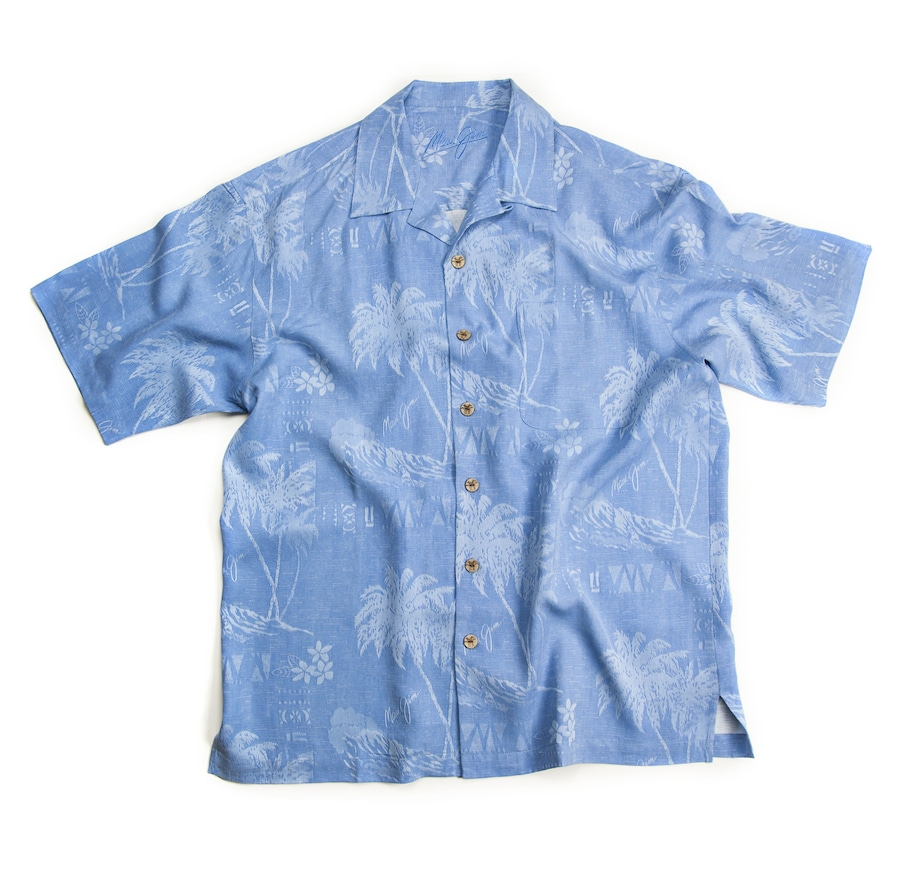 BLUE MEN'S SURF SHIRT front View