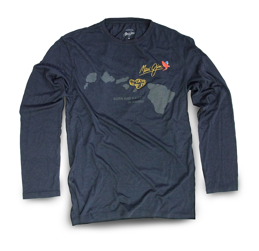 BLACK BORN AND RAISED BAMBOO LONG SLEEVE front View