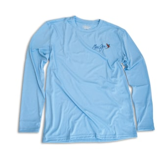 BLUE DENALI PERFORMANCE LONG SLEEVE Front View