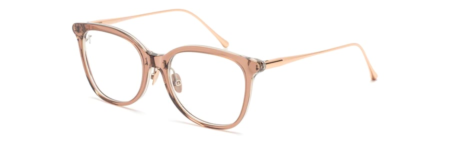 Mauve with Rose Gold temples MJO2221 angle view