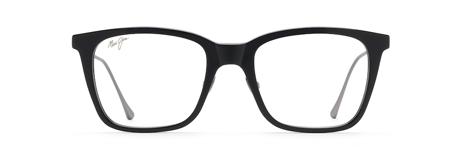Black Gloss with Matte Dark Gunmetal temples MJO2223 front view