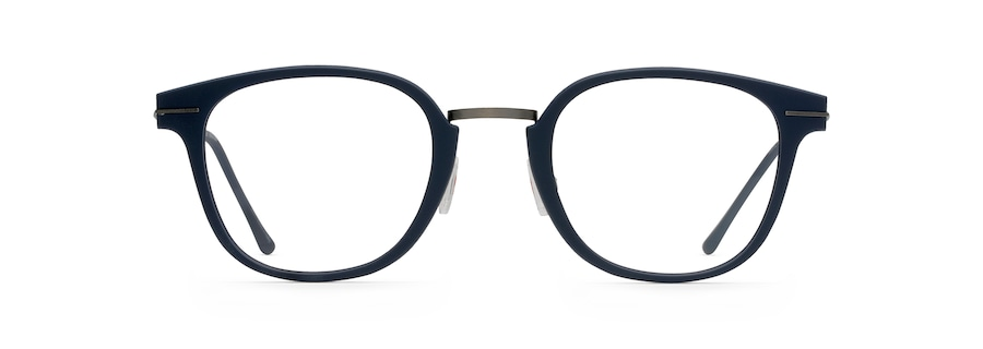 Matte Blue with Dark Gunmetal Temples MJO2412 front view