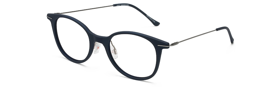 Matte Blue with Dark Gunmetal Temples MJO2413 angle view