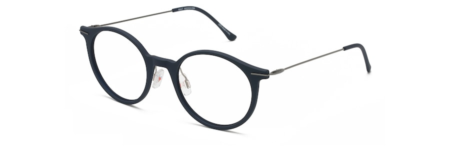 Matte Blue with Dark Gunmetal Temples MJO2414 angle view