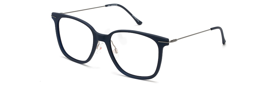 Matte Blue with Dark Gunmetal Temples MJO2416 angle view