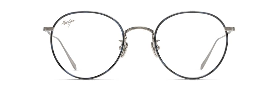 Gunmetal with Blue Tortoise Eye Rim MJO2417 front view