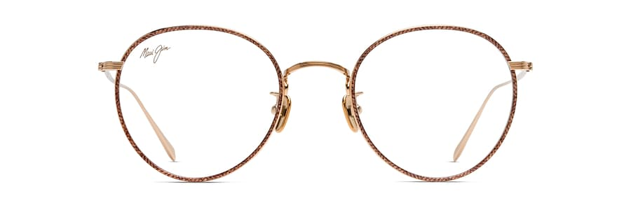 Gold with Brown Fabric Pattern Eye Rim MJO2417 front view