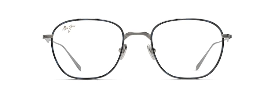 Gunmetal with Blue Tortoise Eye Rim MJO2418 front view