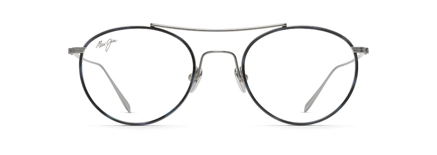 Gunmetal with Blue Tortoise Eye Rim MJO2419 front view