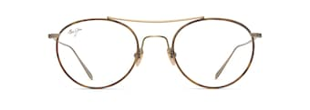 Antique Gold Matte with Brown Tortoise Eye Rim MJO2419 front view
