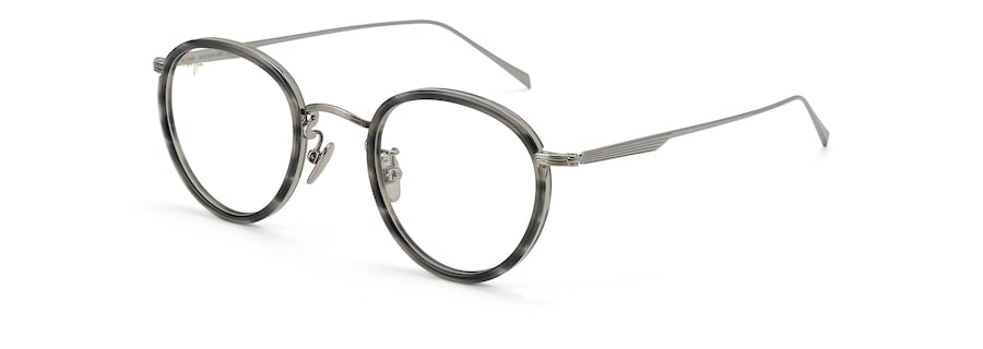 Light Gunmetal with Grey Tortoise Acetate Rim MJO2420 angle view