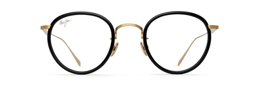 Oro brillante con borde de acetato negro MJO2420 front view