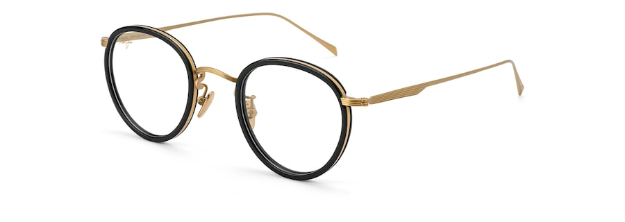 Shiny Gold with Black Acetate Rim MJO2420 angle view