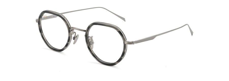 Light Gunmetal with Grey Tortoise Acetate Rim MJO2422 angle view