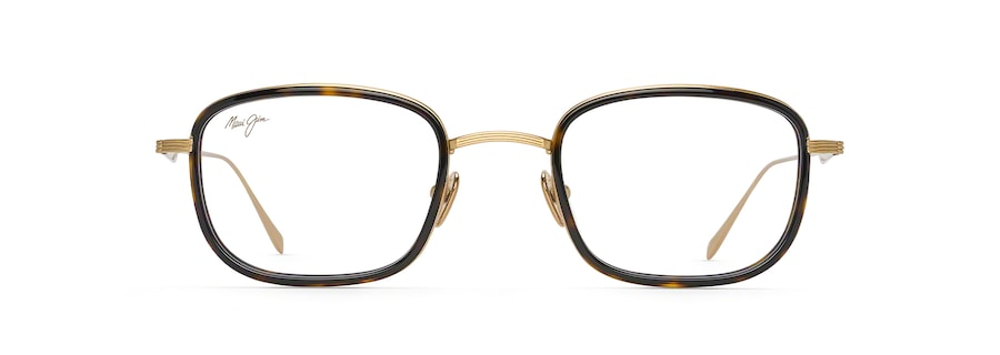 Shiny Gold with Dark Tortoise Acetate Rim MJO2423 front view