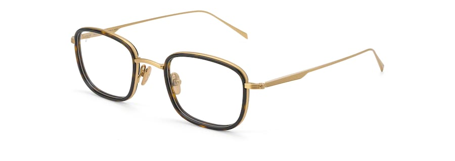 Shiny Gold with Dark Tortoise Acetate Rim MJO2423 angle view