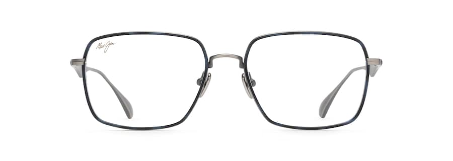 Gunmetal with Blue Tortoise Eye Rim MJO2424 front view
