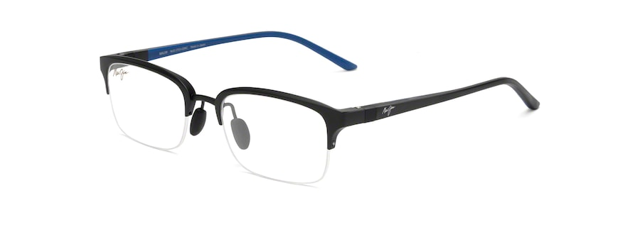 Black Matte with Black and Dark Blue Temples MJO2701 angle view