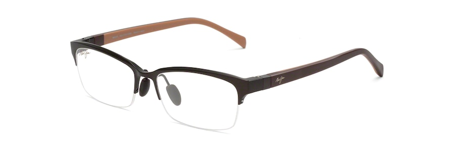 Brown Matte with Dark Brown & Beige Temples MJO2701 angle view