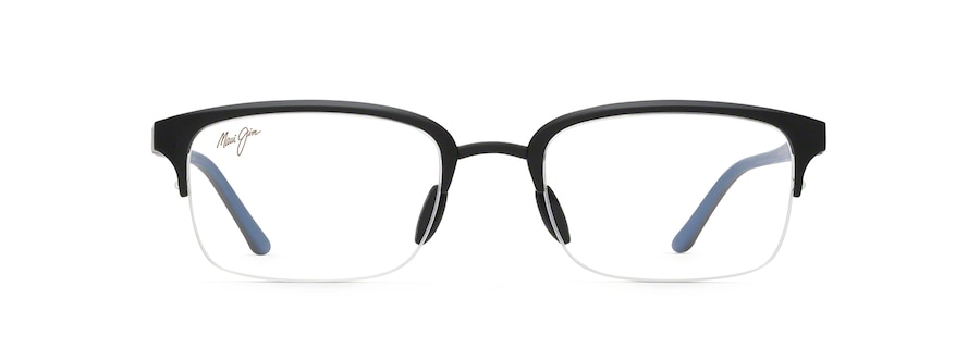 Black Matte with Black and Dark Blue Temples MJO2703 front view
