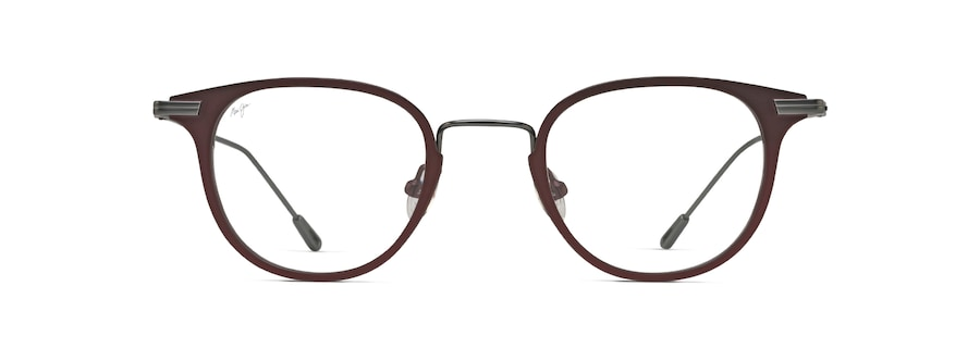 Matte Burgundy with Gunmetal Temples MJO2710 front view