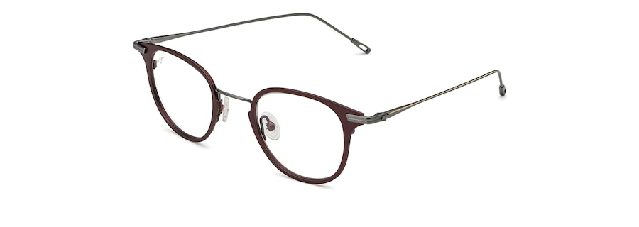 Matte Burgundy with Gunmetal Temples MJO2710 angle view