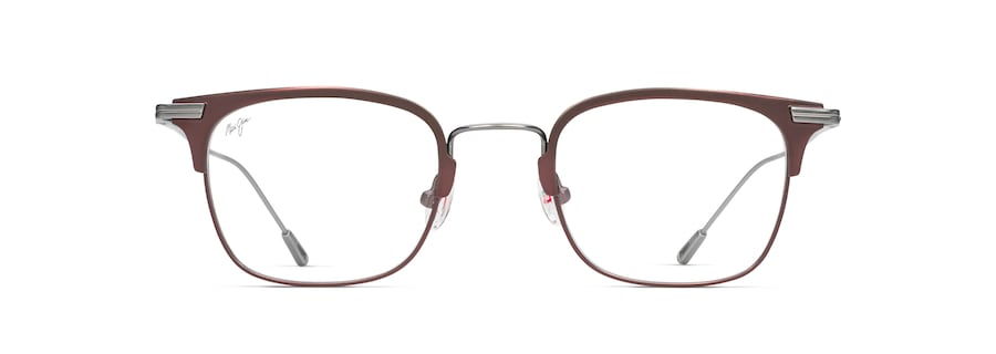 Matte Burgundy with Gunmetal Temples MJO2711 front view