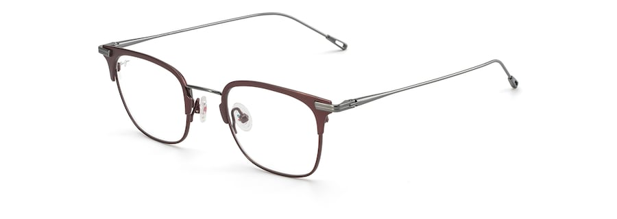 Matte Burgundy with Gunmetal Temples MJO2711 angle view