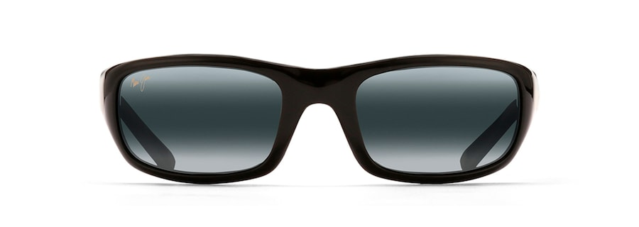 5bd85d25de1 Maui Jim · Sunglasses · Wrap  STINGRAY. Gloss Black STINGRAY front view ...
