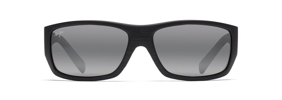 25856960122f Maui Jim · Sunglasses · Wrap; WASSUP. Matte Black Woodgrain WASSUP front  view ...