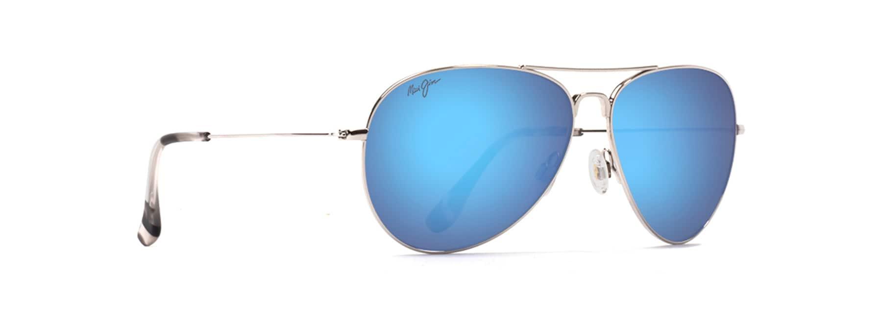 New Maverick Silver Square Aviator Sunglass with Gray Polarized Lens