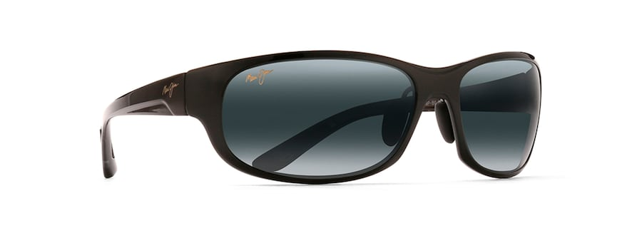 4dcc4968ea12 Maui Jim · Sunglasses · Wrap  TWIN FALLS. Gloss Black TWIN FALLS front  view  Gloss Black TWIN FALLS angle view ...