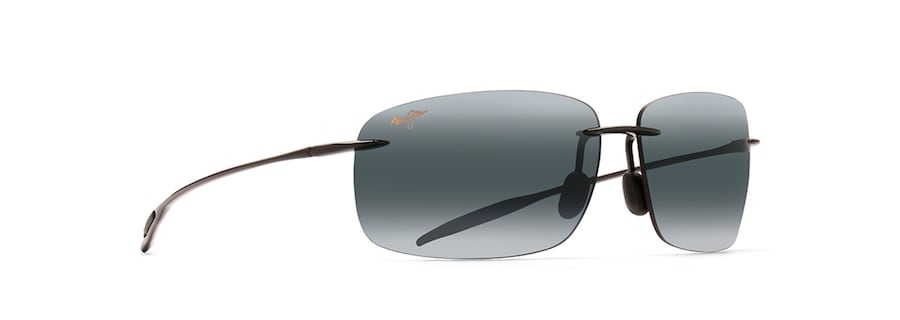 11df156afc9 Maui Jim · Sunglasses · Rimless  BREAKWALL. Gloss Black BREAKWALL front  view  Gloss Black BREAKWALL angle view ...