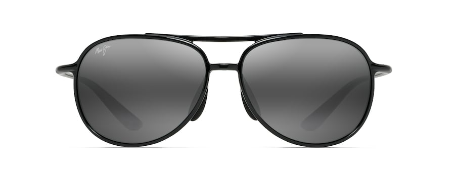 abd65f1132 ... Sunglasses · Aviators  ALELELE BRIDGE. Black Gloss ALELELE BRIDGE front  view ...