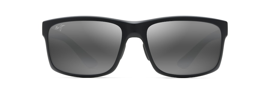6bfbb7d606c3 Maui Jim · Sunglasses · Rectangular; POKOWAI ARCH. slide 1 of 4. Black  Matte POKOWAI ARCH front view ...