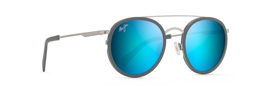 Gebürstetes Silber mit blauem Pulver EVEN KEEL angle view