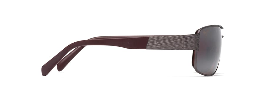 Satin Dark Gunmetal / Burgundy OHIA side view