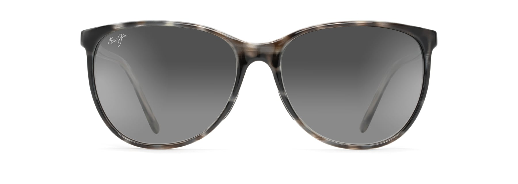 ocean polarized sunglasses maui jim®grey tortoise stripe ocean front view