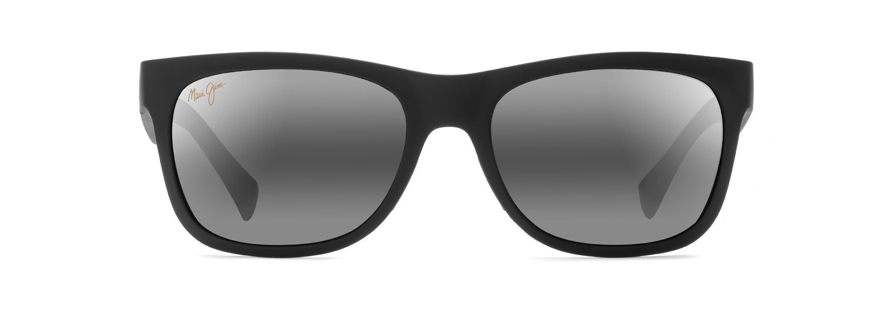 kahi polarized sunglasses maui jim®maui jim · sunglasses · wrap; kahi matte black kahi front view