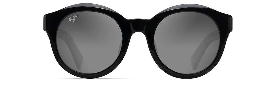 Black Gloss with Tokyo Tortoise Temples JASMINE front view