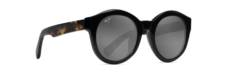 Black Gloss with Tokyo Tortoise Temples JASMINE angle view