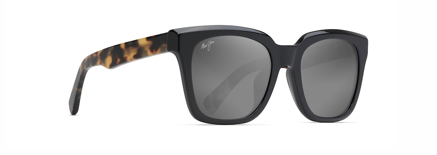 Black Gloss with Tokyo Tortoise Temples HELICONIA angle view
