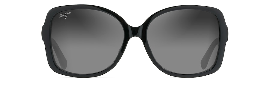 Black Gloss with Silver Temples MELIKA front view