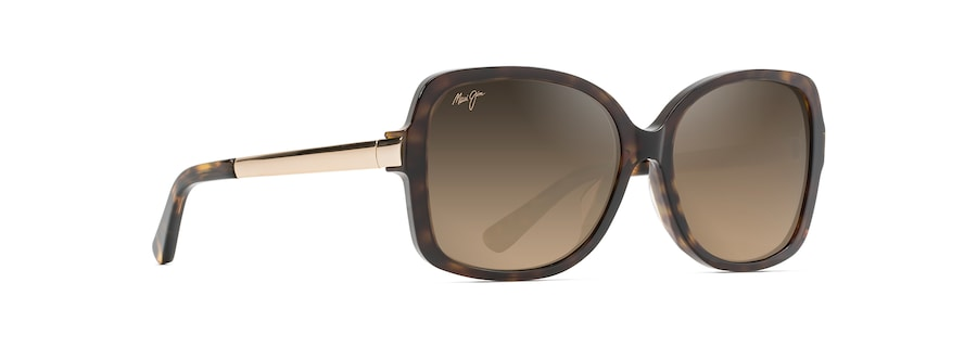 Dark Tortoise with Gold Temples MELIKA angle view