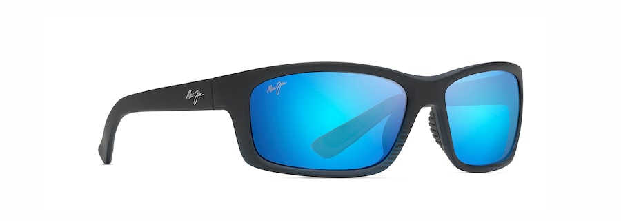 Matte Translucent Blue Black with Stripe KANAIO COAST angle view