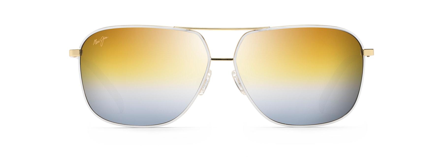 HS774-16 with Patented PolarizedPlus2 Lens Technology HCL Bronze Lenses Maui Jim Sunglasses Maui Jim Cook Pines Polarized Silver Aviator Frame Sunglasses Maui Jim