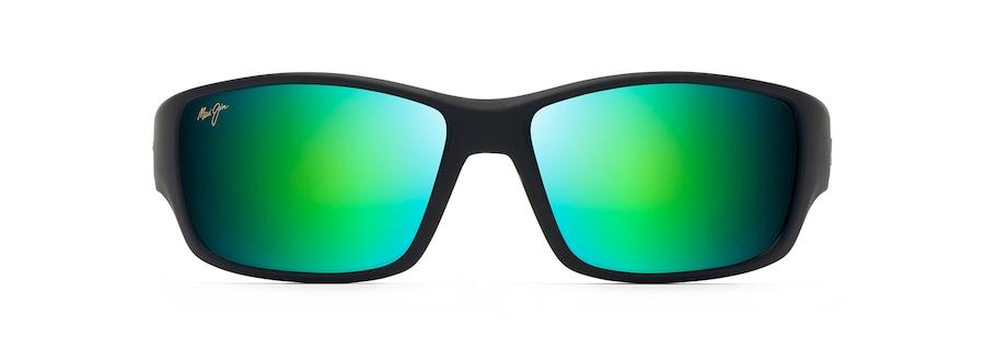Nero delicato con verde scuro trasparente e grigio chiaro trasparente LOCAL KINE front view