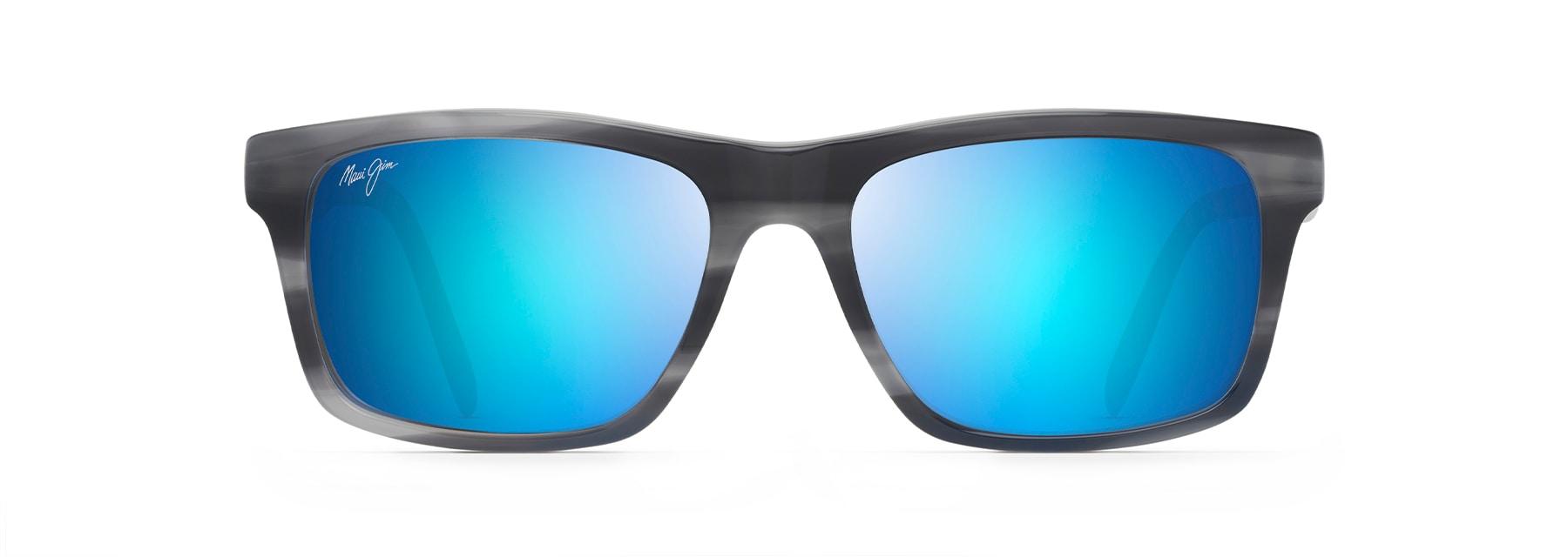 Maui Jim 439-2M Maui Jim Pokowai Rectangular Frame Sunglasses with with Patented PolarizedPlus2 Lens Technology Maui Jim Sunglasses