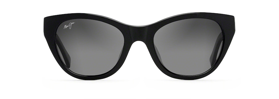 Black with Transparent Dark Grey Temples CAPRI front view