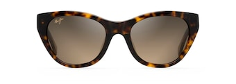 Tortoise with Transparent Tan Temples CAPRI Front View